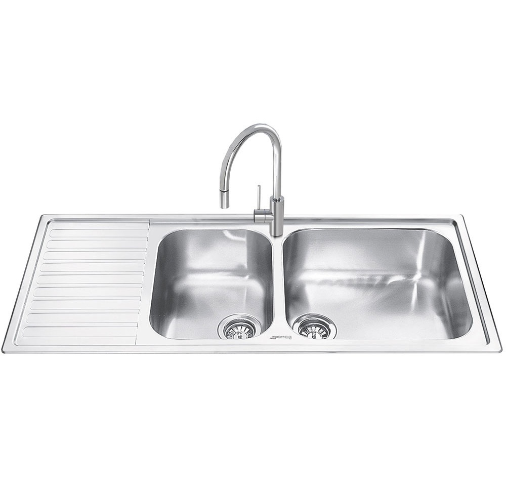 Smeg Alba 2.0 Bowl Stainless Steel Kitchen Sink - Left Handed