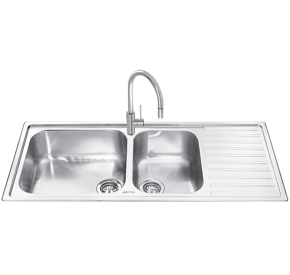 Smeg Alba 2.0 Bowl Stainless Steel Kitchen Sink - Right Handed