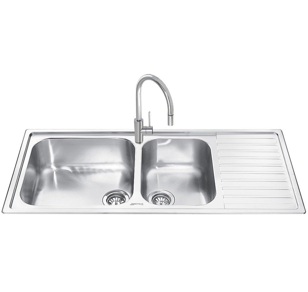 No.3 Best Selling Product In This Category: Smeg Alba 2.0 Bowl Stainless Steel Kitchen Sink - Right Handed