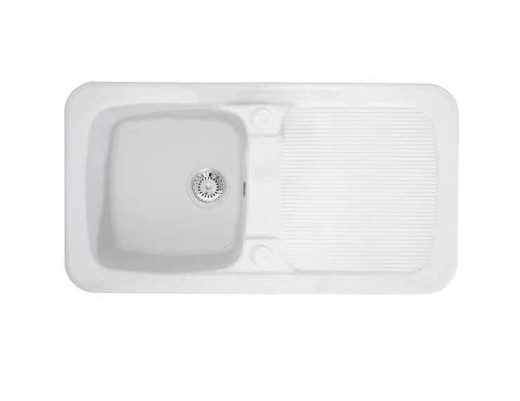 Astracast Aquitaine 1.0 Bowl Gloss White Ceramic… Product Image