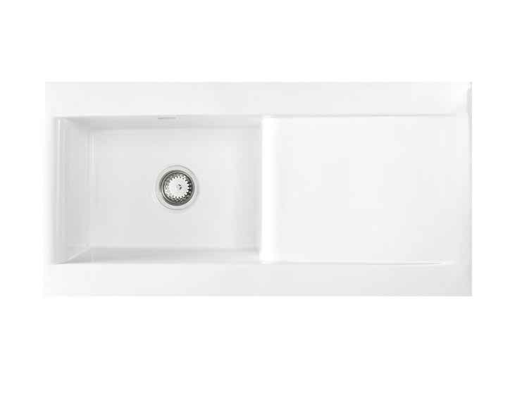Astracast Liscio 1 Bowl Gloss White Ceramic… Product Image