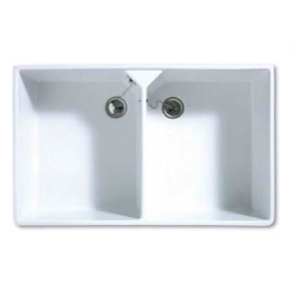 Bretton Park Moselle 2.0 Bowl Gloss White Ceramic Kitchen Sink