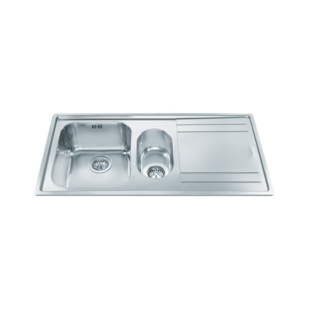 Smeg Rigae 1.5 Bowl Stainless Steel Kitchen Sink - Right Handed