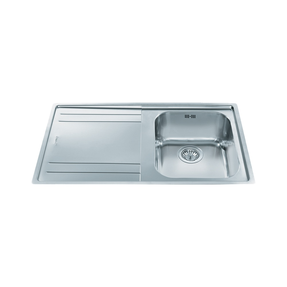 Smeg Rigae 1.0 Bowl Stainless Steel Kitchen Sink - Left Handed