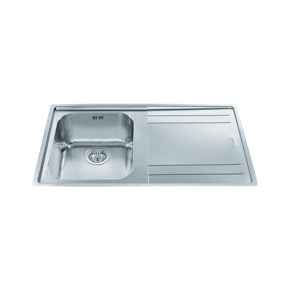 Smeg Rigae 1.0 Bowl Stainless Steel Kitchen Sink - Right Handed