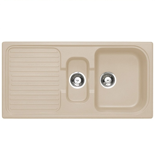 Bretton Park Rio 1.5 Bowl Granite Kitchen Sink - Sahara Beige