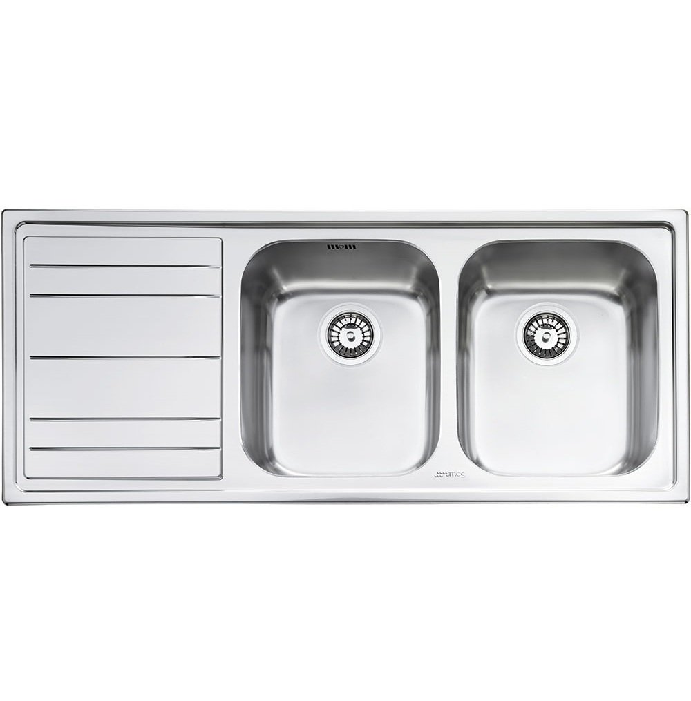 Smeg Rigae 2.0 Bowl Stainless Steel Kitchen Sink - Left Handed