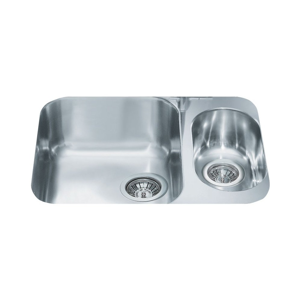 Smeg Alba UM3416 1.5 Bowl Stainless Steel Undermount Kitchen Sink
