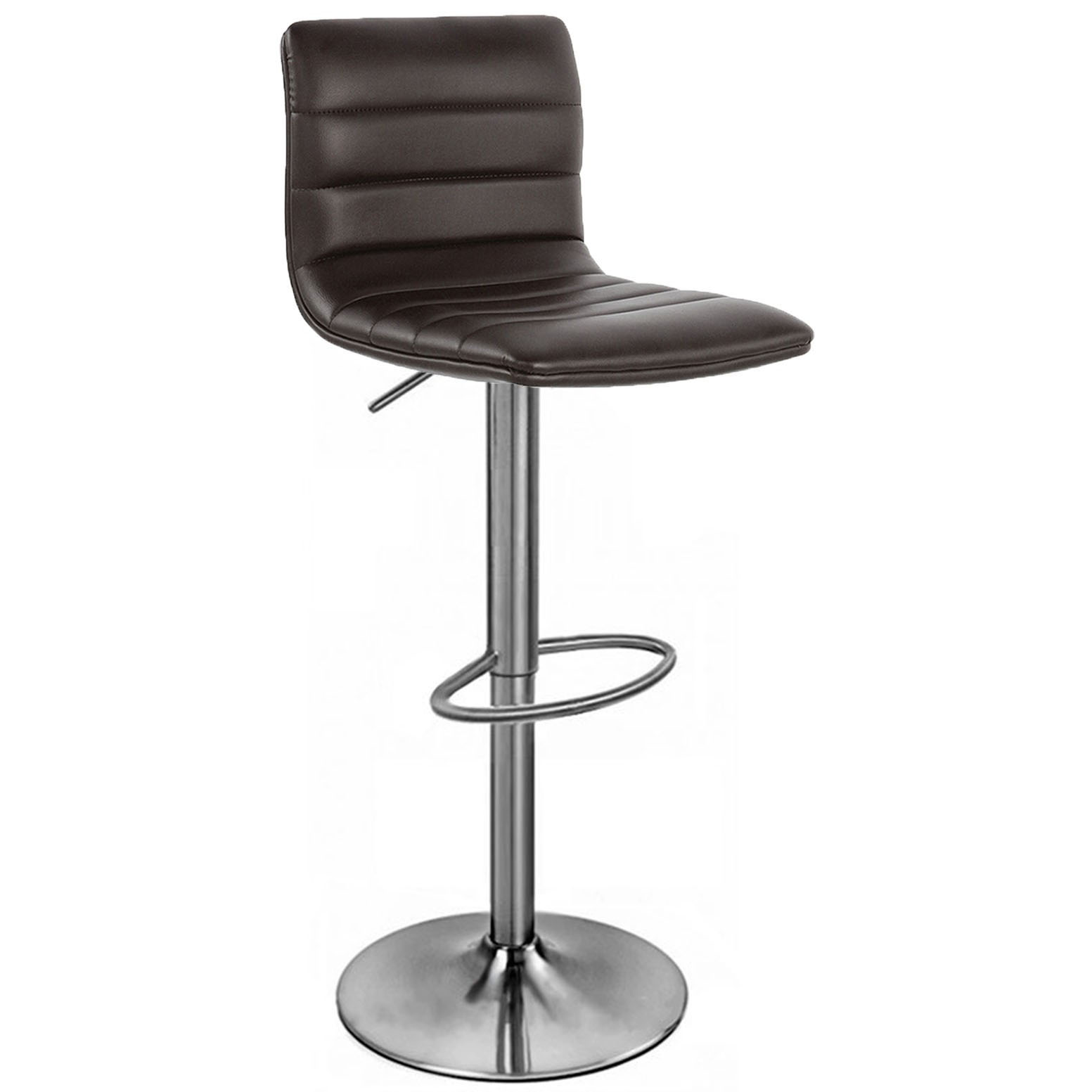 Aldo Brushed Bar Stool - Brown