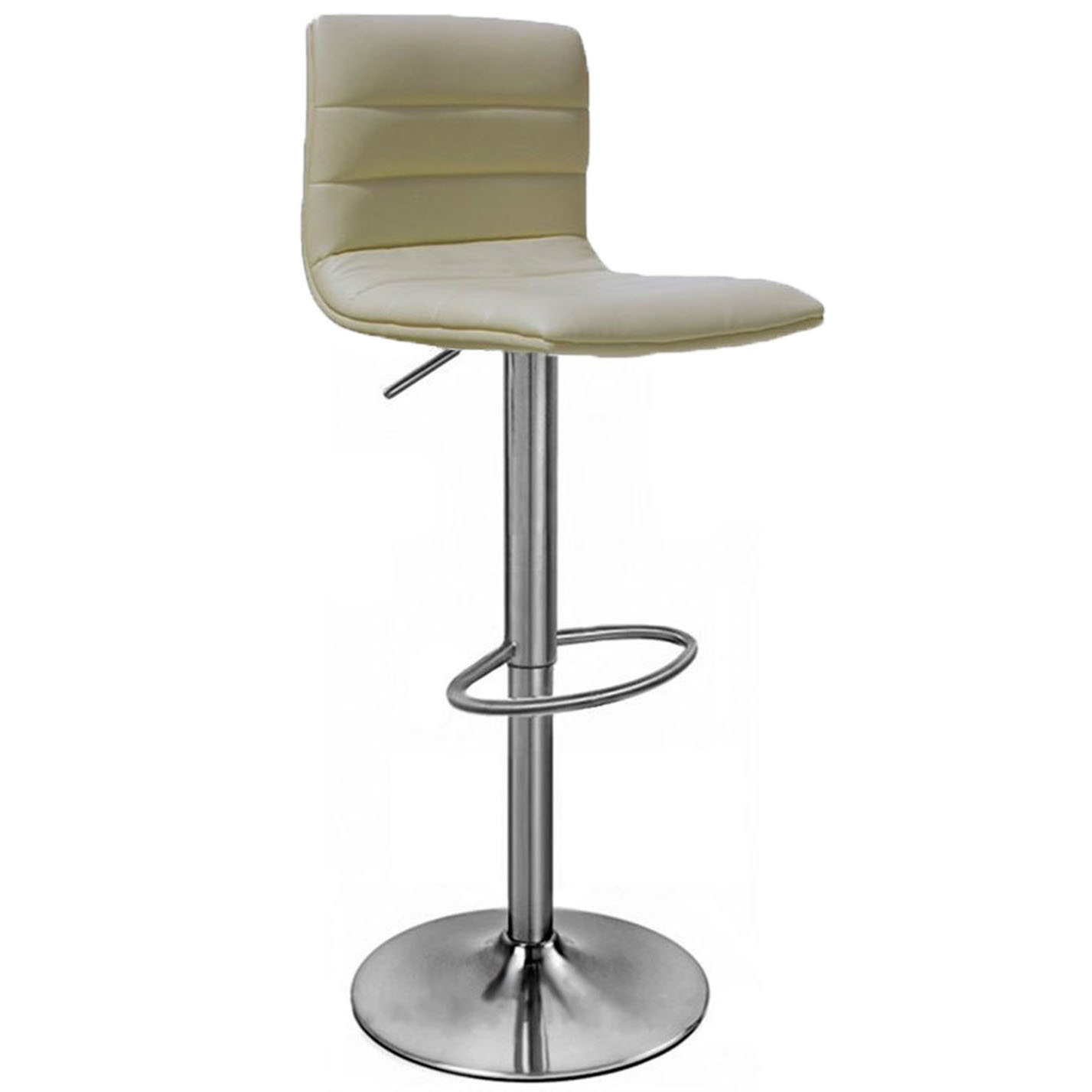 Aldo Brushed Bar Stool - Cream