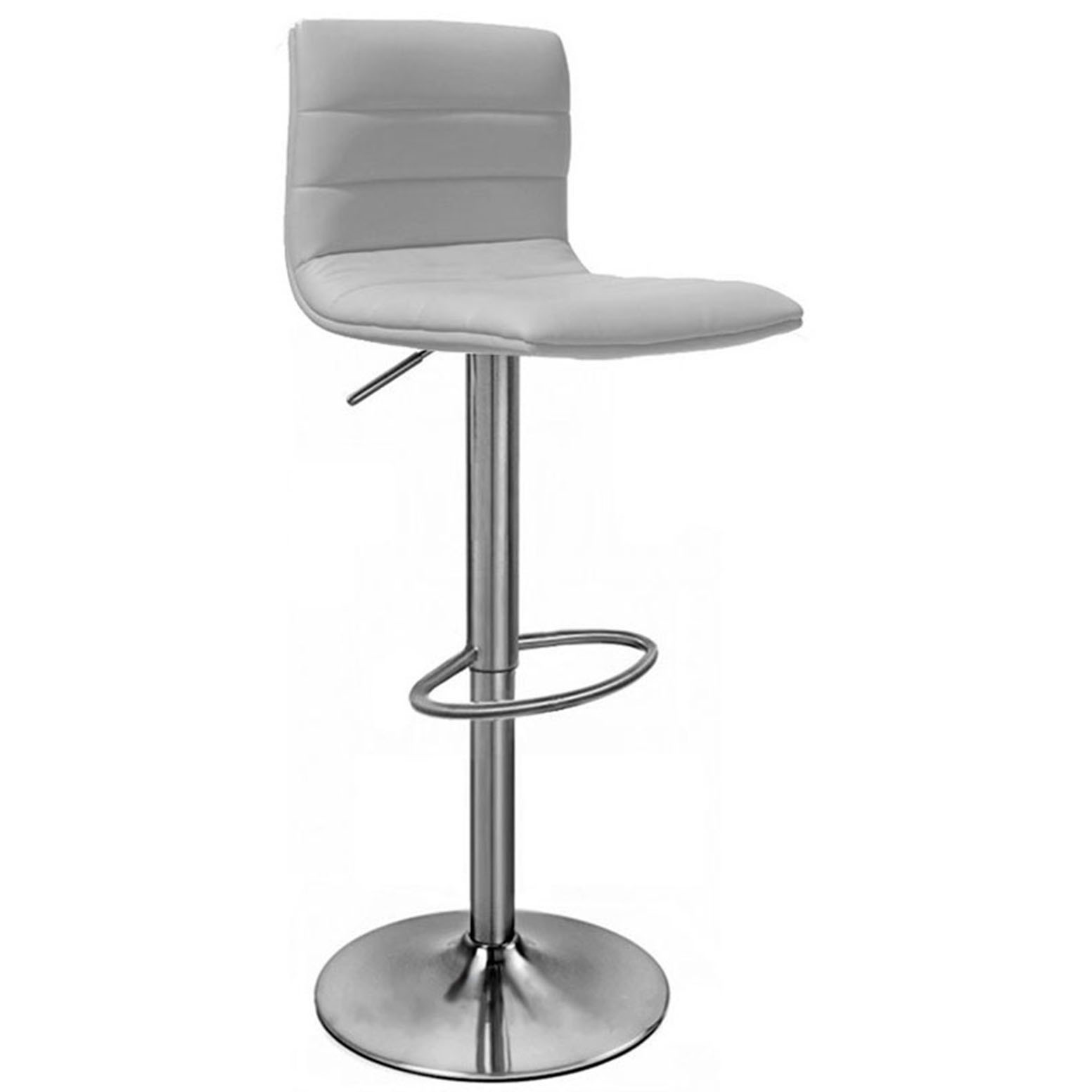 Aldo Brushed Bar Stool Grey Size X 390mm X 390mm