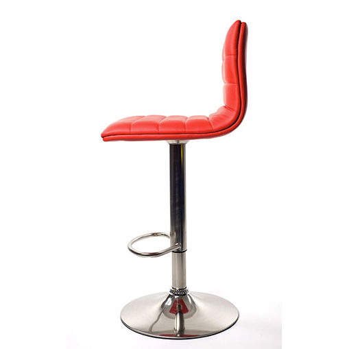 Aldo Brushed Bar Stool - Red