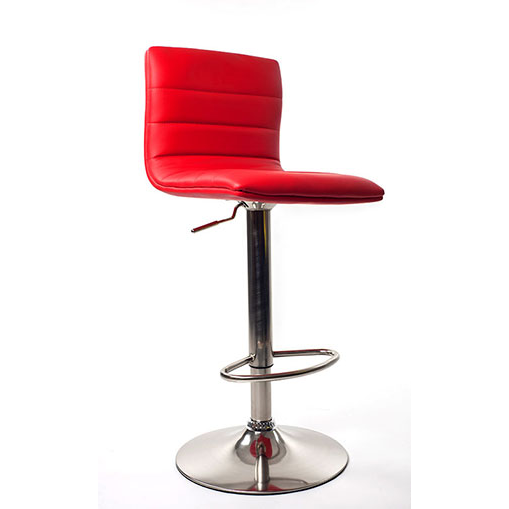Aldo Brushed Bar Stool - Red Product Image