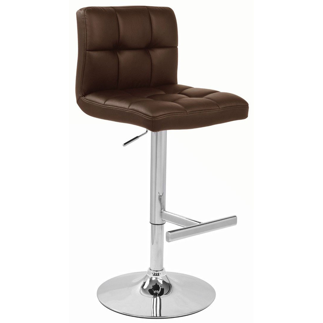 Brown Leather Bar Stools Brown Kitchen Black Leather Bar