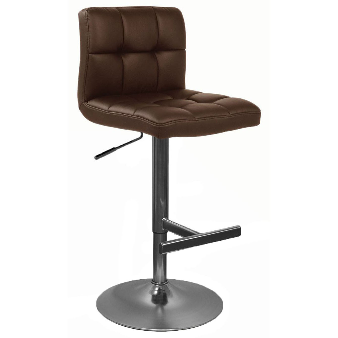 Allegro Brushed Bar Stool - Brown