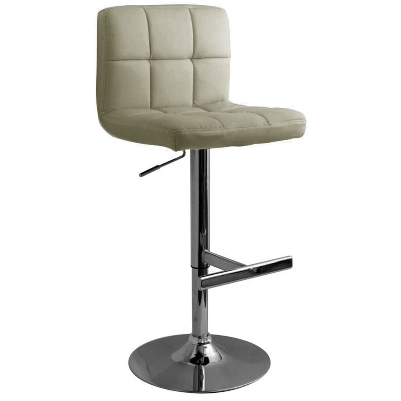Allegro Brushed Bar Stool Grey Size X 450mm X 540mm