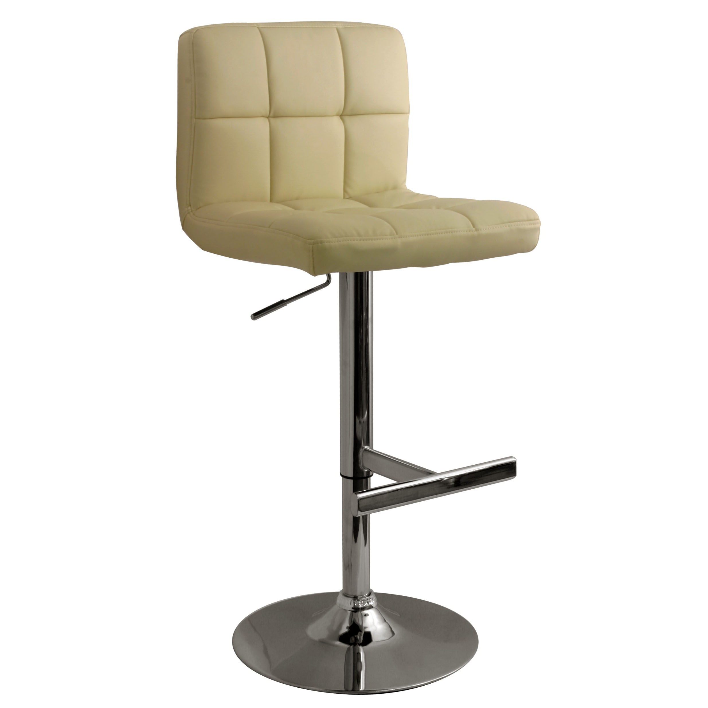 Allegro Leather Bar Stool - Cream