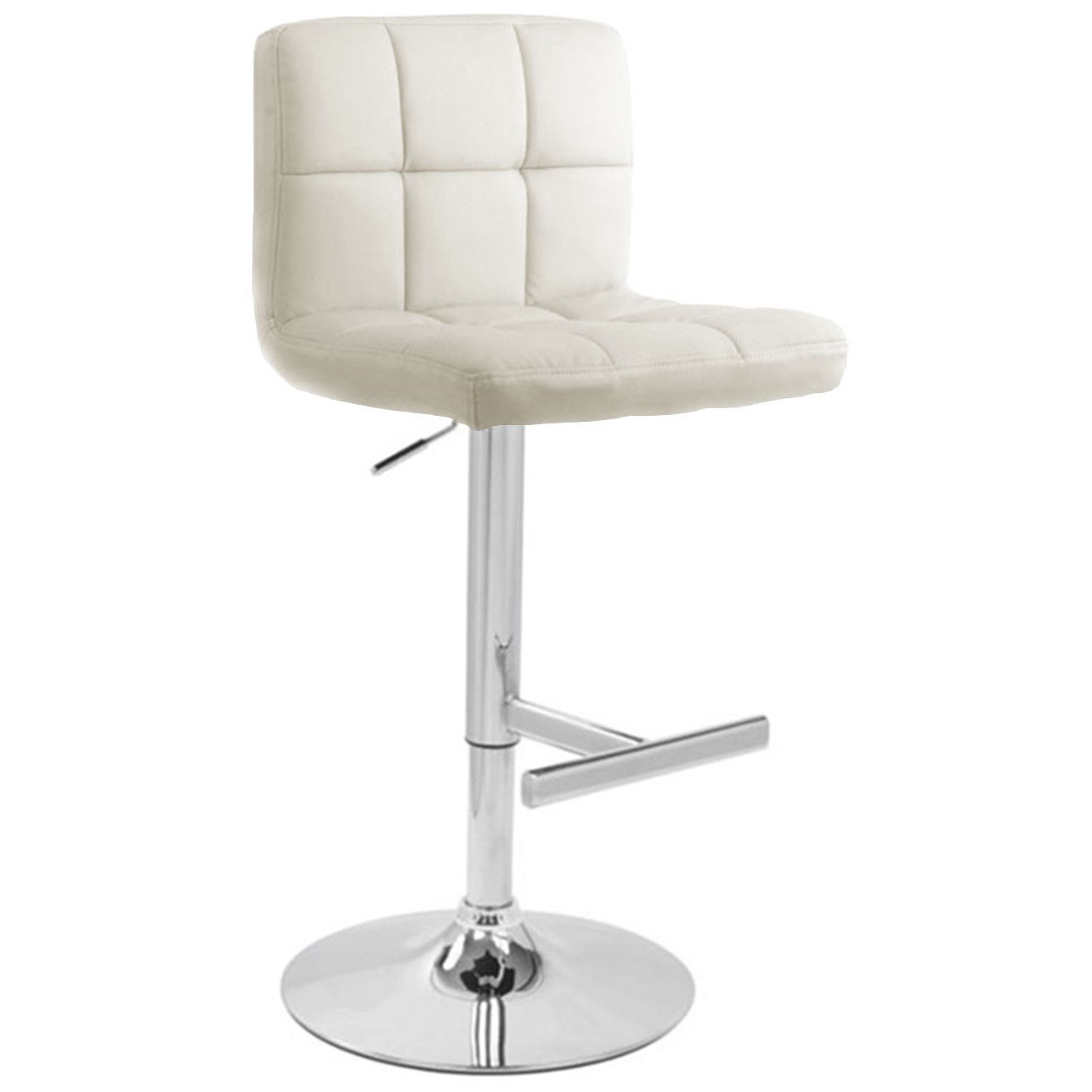Allegro Leather Bar Stool - White Product Image