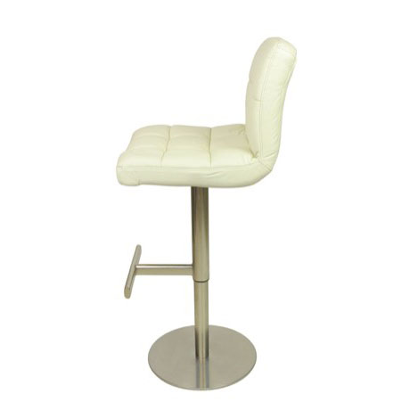 Allegro leather brushed bar stool white size x 450mm x 450mm - Allegro bar stool ...