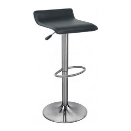 Baceno Brushed Bar Stool - Black