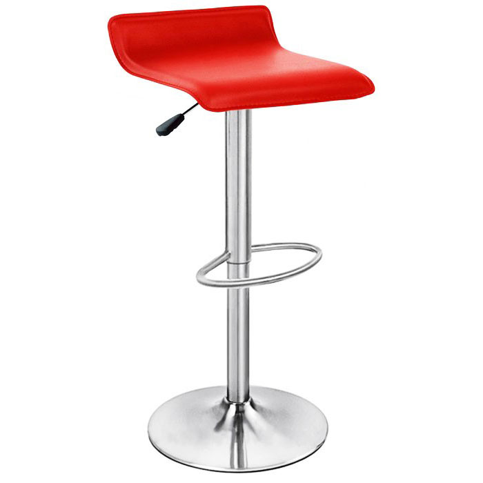 Baceno Brushed Bar Stool - Red