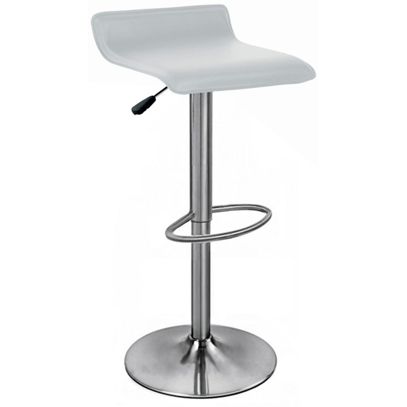 Baceno Brushed Bar Stool - White