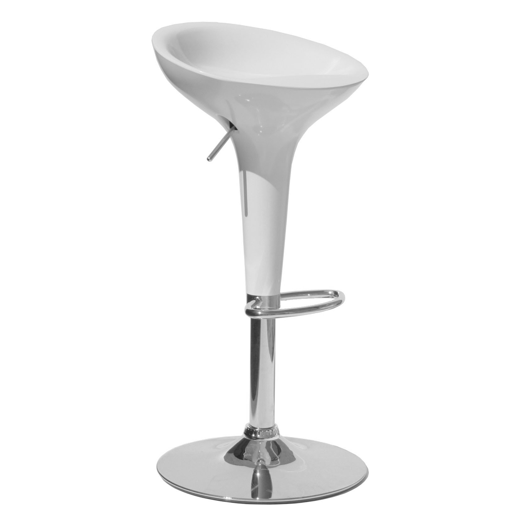 Bamboo Bar Stool - White Product Image
