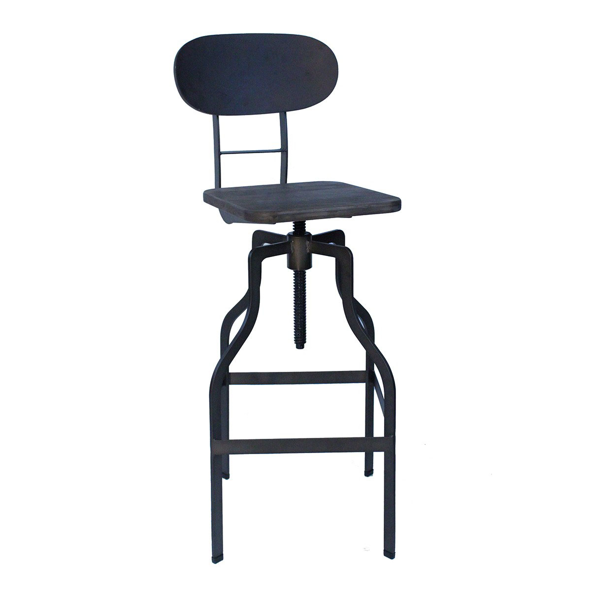 Bolzano Vintage Bar Stool - Black Product Image