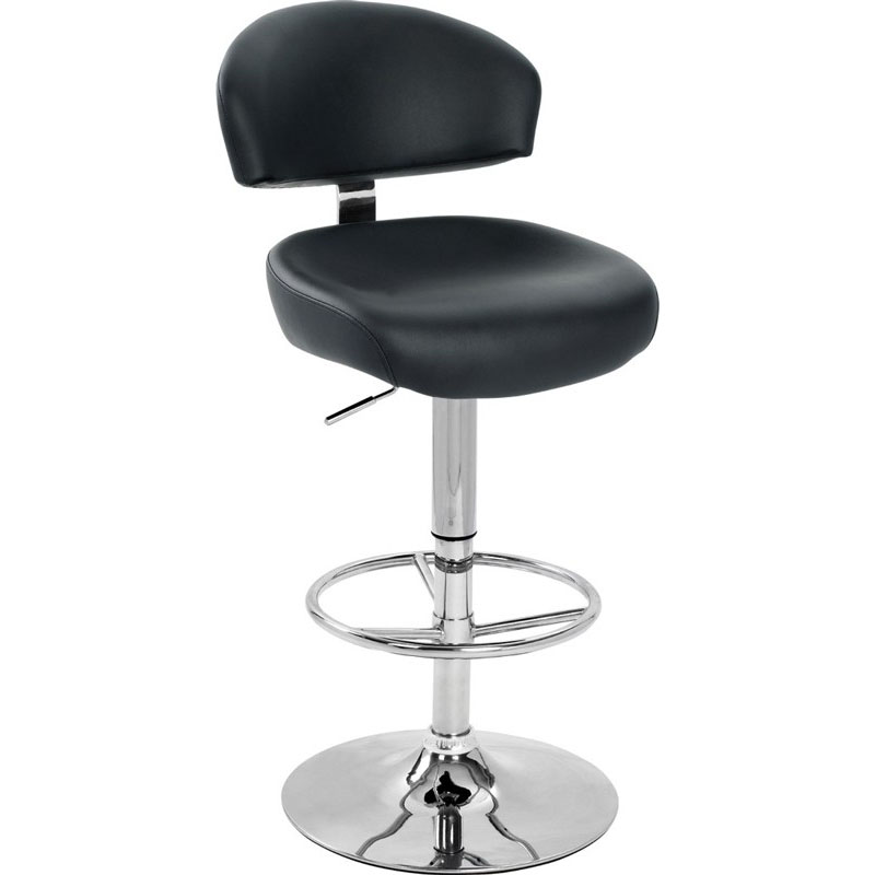 Black Kitchen Bar Stools Uk: Cheap Kitchen Black Leather Bar