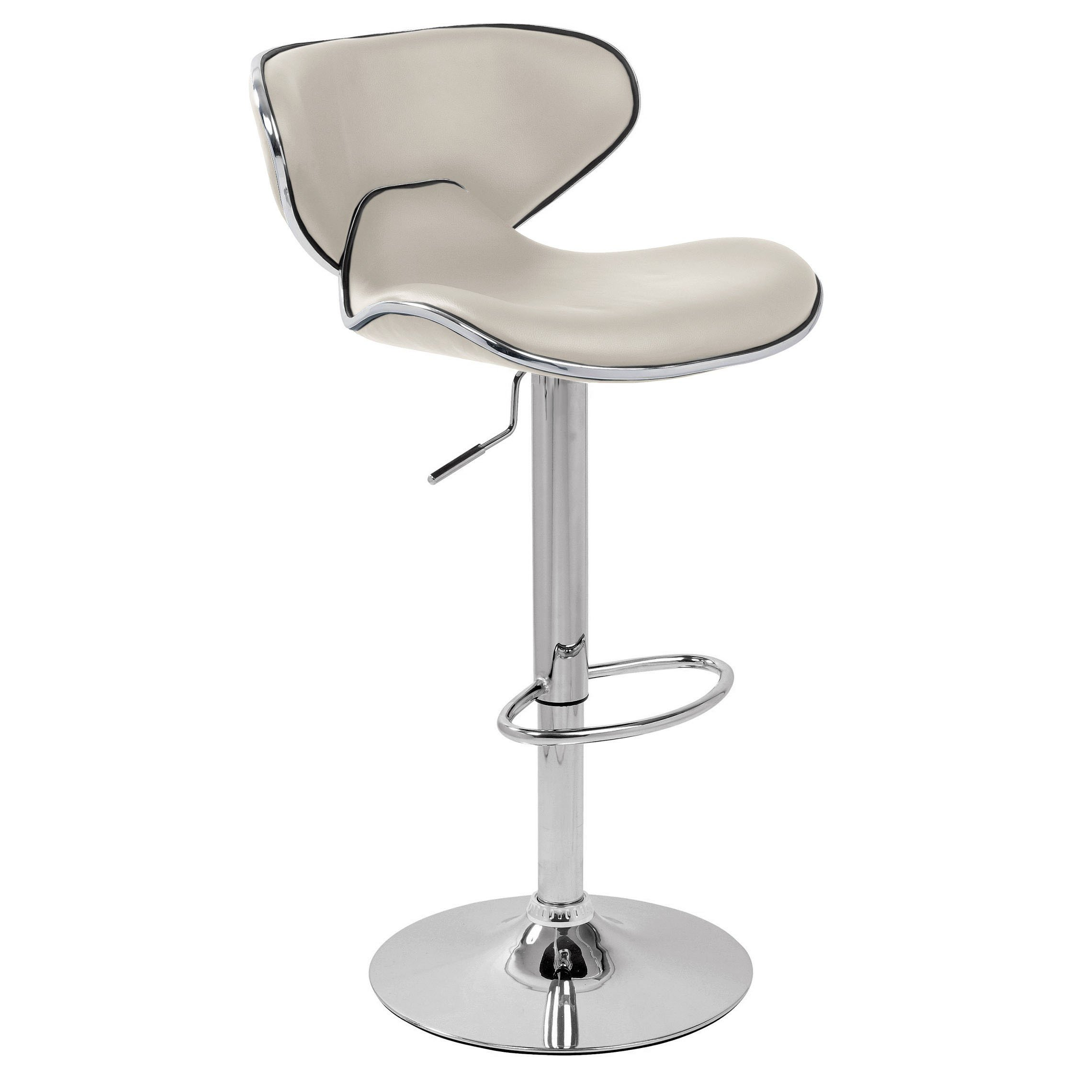 Carcaso Bar Stool - White Product Image