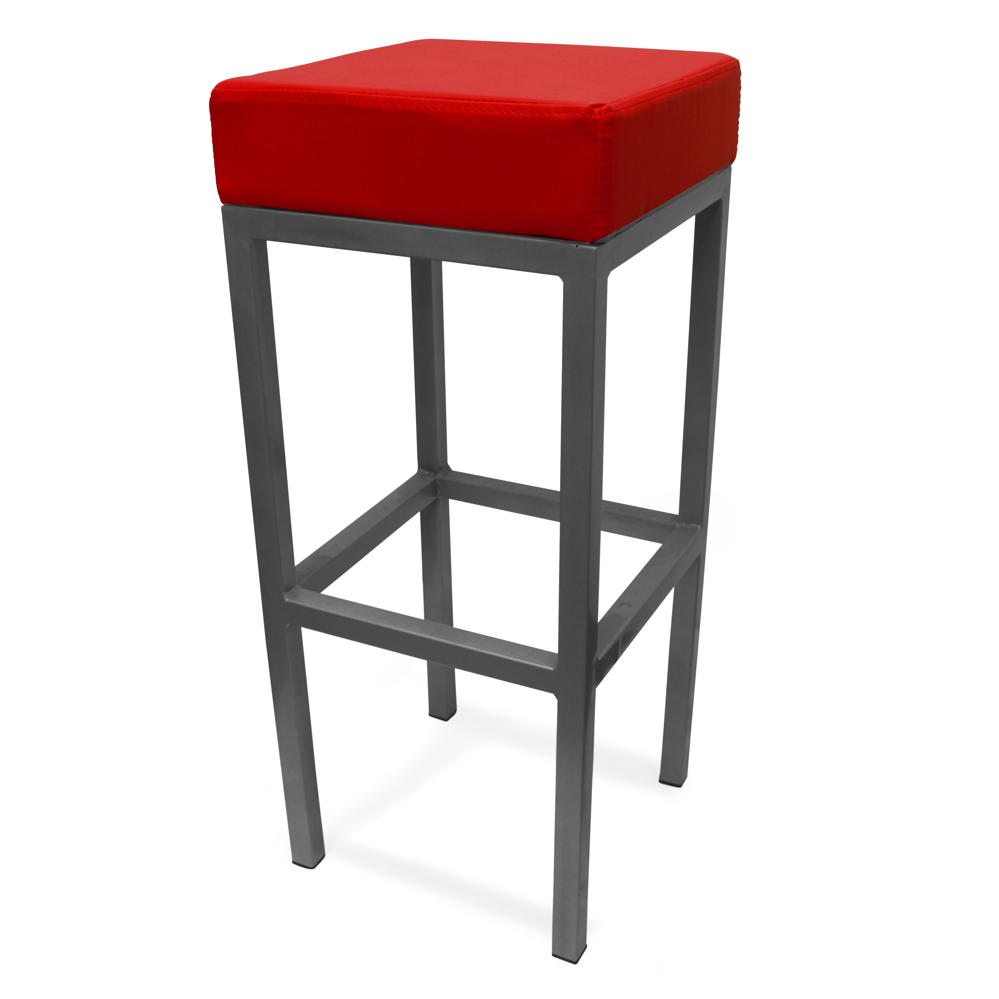 Cube Bar Stool Red Product Image