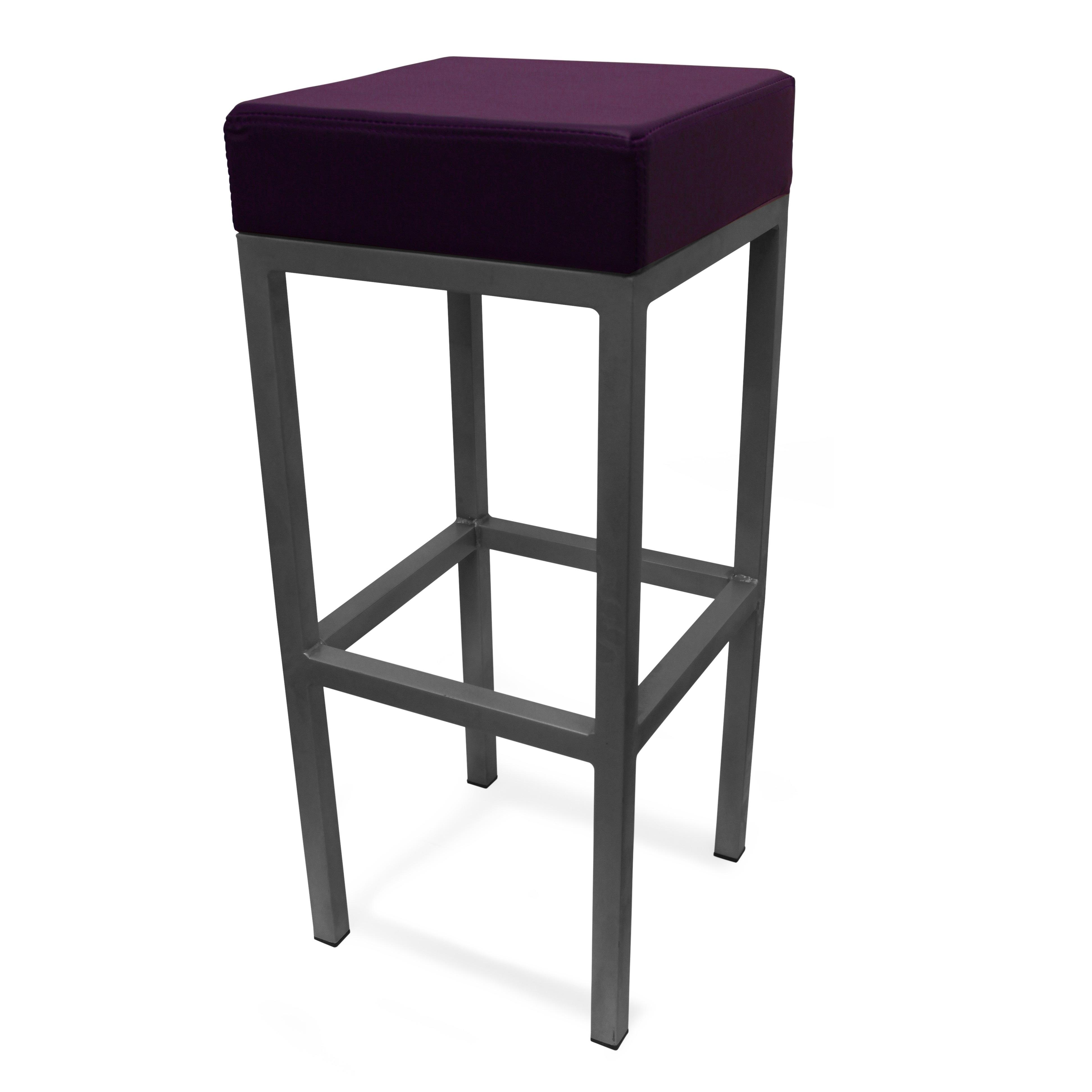 Cube bar stool purple