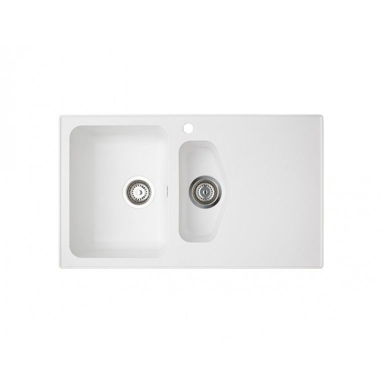 Astracast Dart 1.5 Bowl Rok Granite Kitchen Sink - Opal White