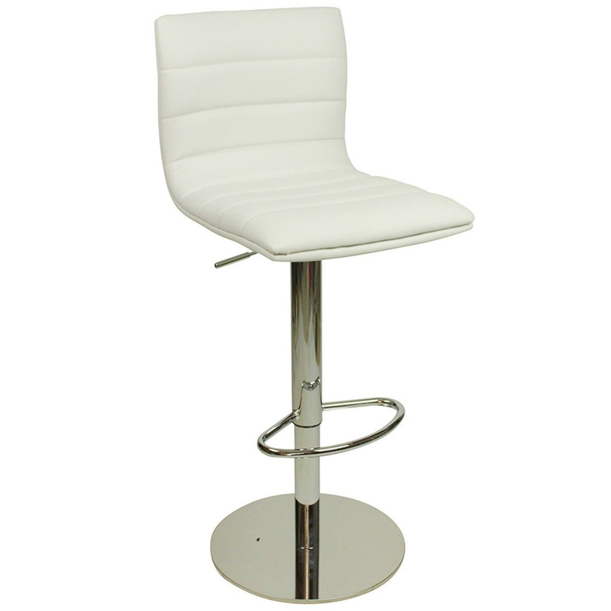 Deluxe Aldo Bar Stool White Size X 415mm X 390mm