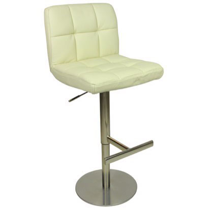 Deluxe Allegro Leather Bar Stool - Cream Product Image