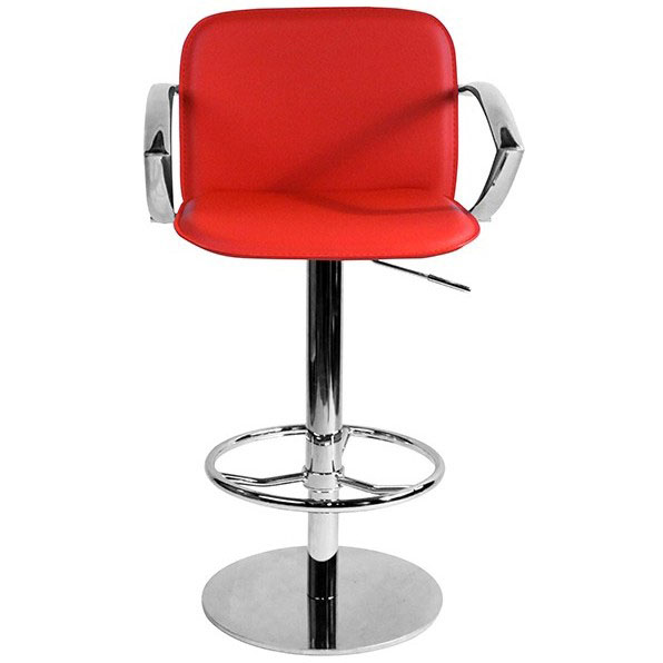 Deluxe Bueno Bar Stool with Arms - Red
