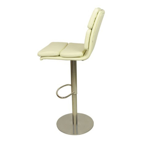 Deluxe Moderno Bar Stool - Cream