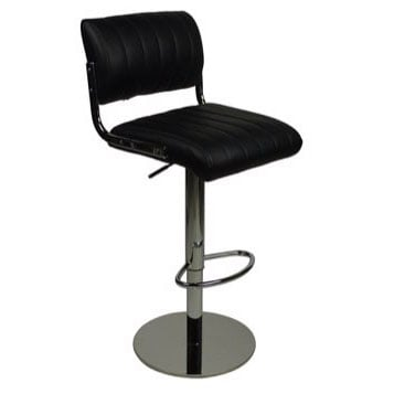 Deluxe Siena Bar Stool - Black Product Image