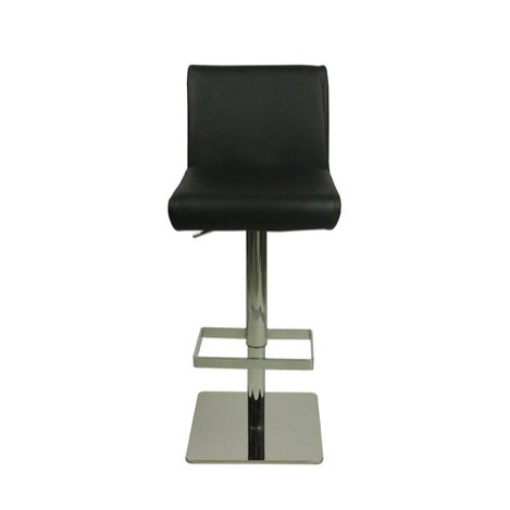 Deluxe Snella Leather Bar Stool - Black