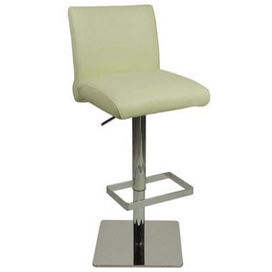 Deluxe Snella Leather Bar Stool - Cream
