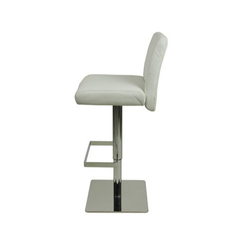 Deluxe Snella Leather Bar Stool - White