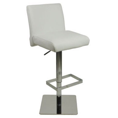 Deluxe Snella Leather Bar Stool - White Product Image