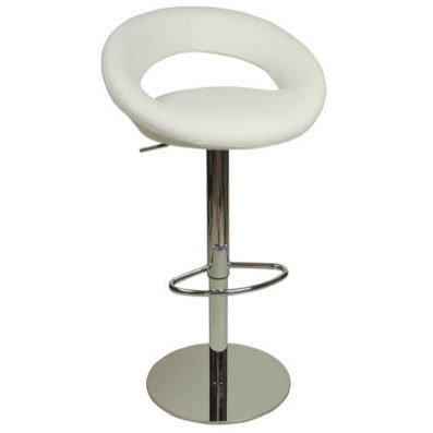 Deluxe Sorrento Kitchen Bar Stool - White Product Image