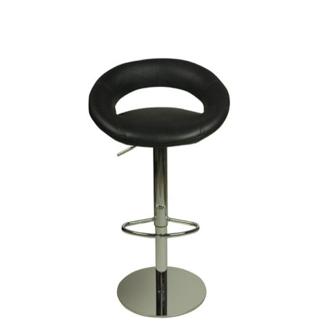 Deluxe Sorrento Leather Bar Stool - Black