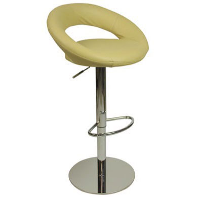 Deluxe Sorrento Leather Bar Stool - Cream Product Image