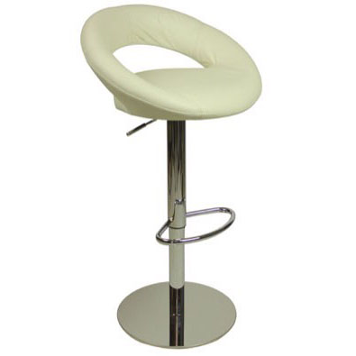 Deluxe Sorrento Leather Bar Stool - White Product Image
