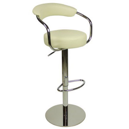 Deluxe Zenith Bar Stool with Arms - Cream