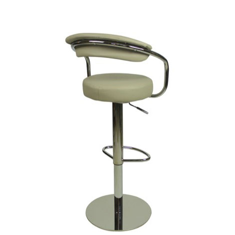 Deluxe Zenith Bar Stool with Arms - Grey