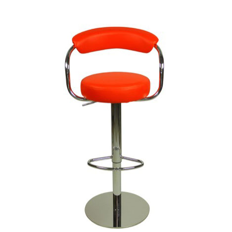 Deluxe Zenith Bar Stool with Arms - Red