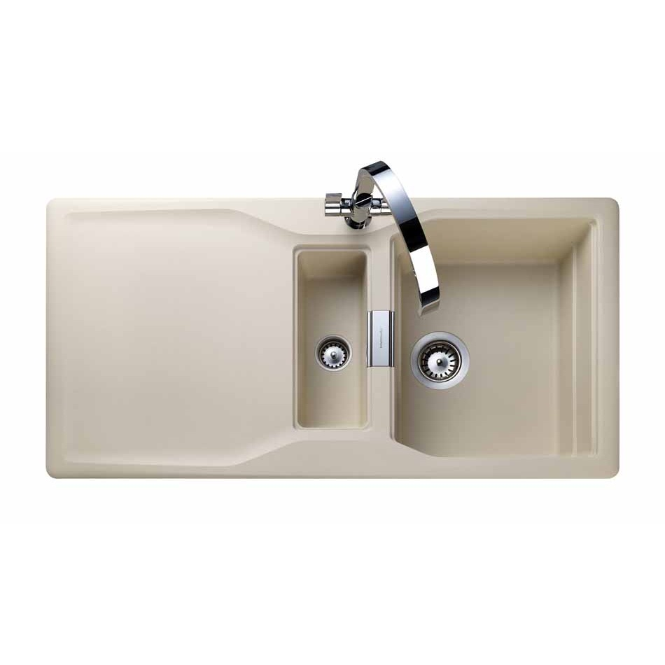 Rangemaster Magma Igneous 1.5 Bowl Granite Kitchen Sink - Stone Beige